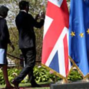 UK PM Teresa May Holds Talks With Italian PM Matteo Renzi Art Print