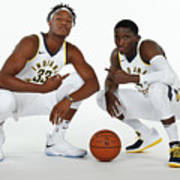 Victor Oladipo and Myles Turner Art Print