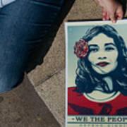 Women's March Held In Macau Art Print