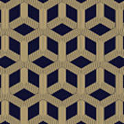 Seamless Geometric Pattern Art Print