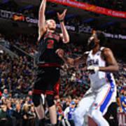Chicago Bulls v Philadelphia 76ers Art Print