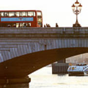 Commuters Use New High-Speed Catamaran Clippers Operated By MBNA Thames Clippers Art Print