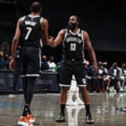 Kevin Durant and James Harden Art Print
