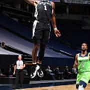 San Antonio Spurs v Minnesota Timberwolves Art Print