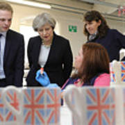 Theresa May Visits Stoke-On-Trent Central Ahead Of Thursday's By-election Art Print