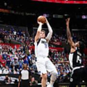 2021 NBA Playoffs - Dallas Mavericks v LA Clippers Art Print