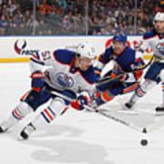 Edmonton Oilers v New York Islanders Art Print