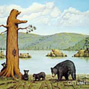 27 Bears Art Print