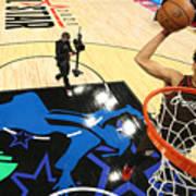 2021 NBA All-Star - AT&T Slam Dunk Contest Art Print