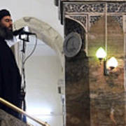 Alleged ISIL leader appears in video footage Art Print