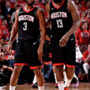 Chris Paul and James Harden Art Print