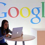 Google Holds News Conference Art Print