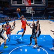San Antonio Spurs v Oklahoma City Thunder Art Print