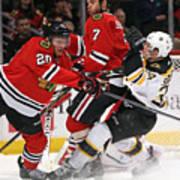 Boston Bruins v Chicago Blackhawks Art Print