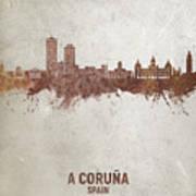 A Coruna Spain Skyline #04 Art Print