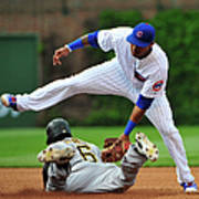 Addison Russell and Starling Marte Art Print