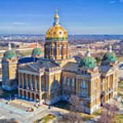 Aerial Of Iowa Capital March 4 2017 Art Print