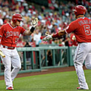 Albert Pujols and Kole Calhoun Art Print