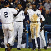 Alfonso Soriano, Derek Jeter, and Bernie Williams Art Print