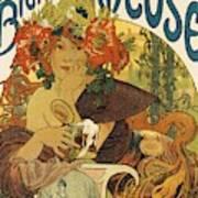 Vintage Biere De Ville Sur Illon Beer HUGE 29 12x21 12 Framed Poster Art Man Cave