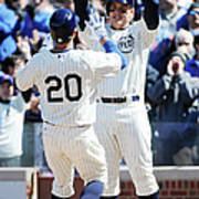 Anthony Rizzo and Justin Ruggiano Art Print