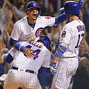 Anthony Rizzo, Kris Bryant, and Javier Baez Art Print