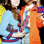 Asap Rocky And Lana Del Rey Photograph By James Rey