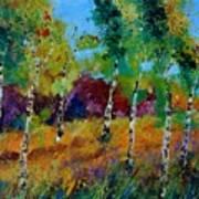 Aspen trees in autumn Art Print