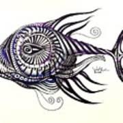Asynchronous Hate Fish Art Print
