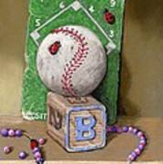 B is for Beads Bugs and a Ball for the Bases Art Print