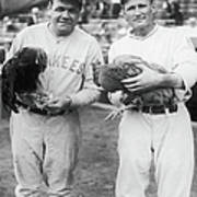 Babe Ruth and Walter Johnson Art Print