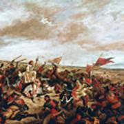 Battle of Poitiers on September 19, 1356 Art Print