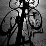 Bicycle shadow Art Print