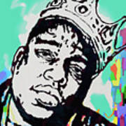 Biggie Smalls - pop art poster  1 Art Print