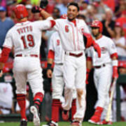 Billy Hamilton and Joey Votto Art Print