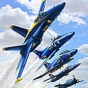 Blue Angels Heritage Art Print