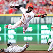 Brandon Crawford and Brandon Phillips Art Print