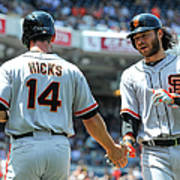 Brandon Hicks and Brandon Crawford Art Print