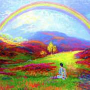 Buddha Chakra Rainbow Meditation Art Print