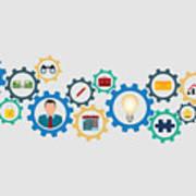 Business Strategy Concept Art Print