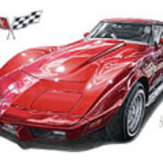 C3 Chevrolet Corvette Art Print