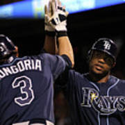 Carl Crawford and Evan Longoria Art Print
