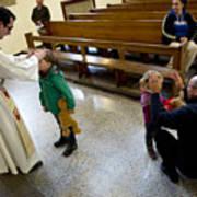 Catholic Church Hosts Mass For House Pets Art Print