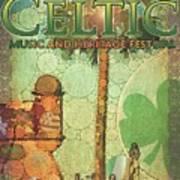 Celtic Festival Poster Art Print