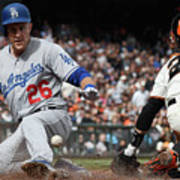Chase Utley and Buster Posey Art Print