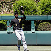 Chase Utley And Starling Marte Art Print