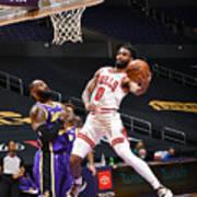 Chicago Bulls v LA Lakers Art Print