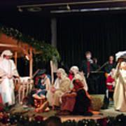 Christmas with nativity scene Art Print