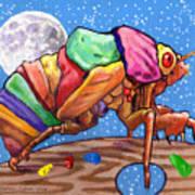 Cicadas Shell Palette Art Print