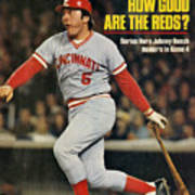 Cincinnati Reds Johnny Bench, 1976 World Series Sports Illustrated Cover Art Print
